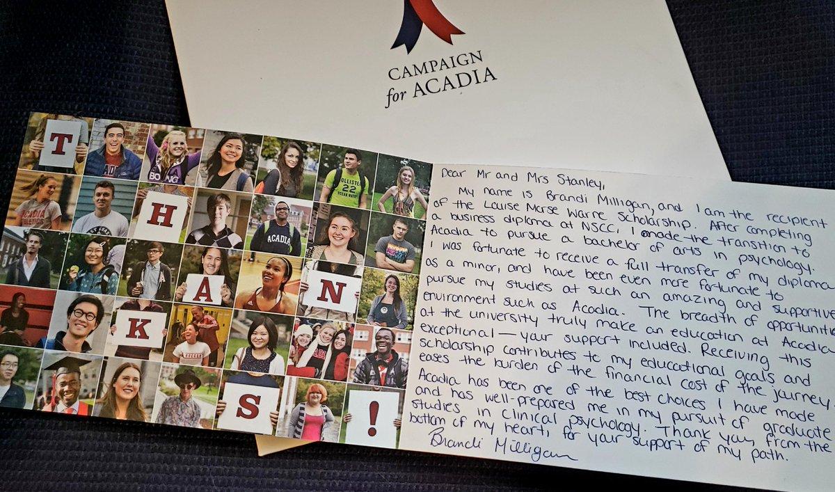 Acadia Alumni's photo on #InternationalThankYouDay