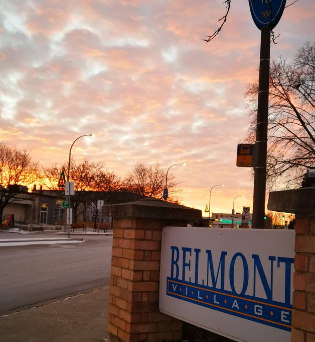 The sun came up over Belmont Village in beautiful hues of orange and red and it continues to shine warmth into the village. Why not visit one of our amazing restaurants or cafes today for a coffee or drink. #kwawesome #FridayFeeling Photo