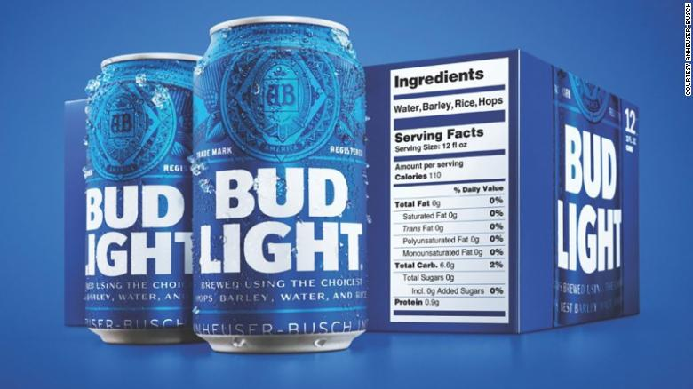 Bud Light packages will now show nutritional information https://t.co/on8NJ4rq5r