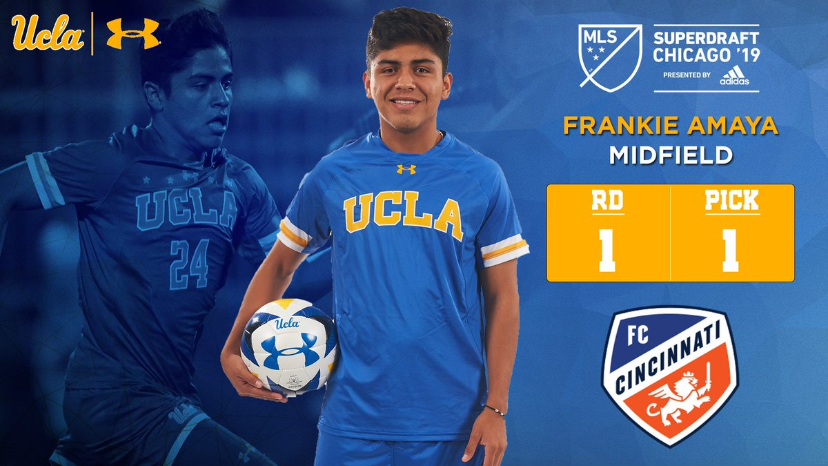 Frankie&#39;s first!  @fccincinnati just made Frankie the No. 1 overall pick in the 2019 MLS SuperDraft.   Congrats Frankie!  #GoBruins<br>http://pic.twitter.com/7eIBLRsNMF