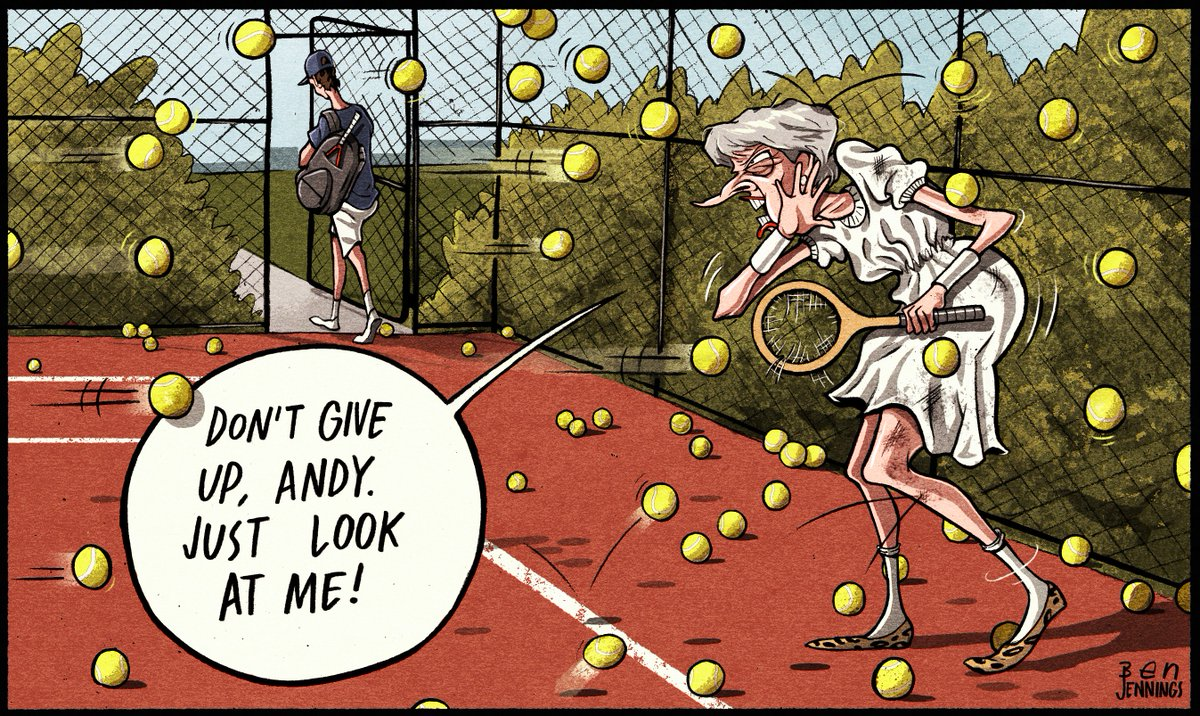 This week's @theipaper cartoon #AndyMurray #MurrayRetirement #TheresaMay #Brexit #tennis<br>http://pic.twitter.com/QWytqMYf3A