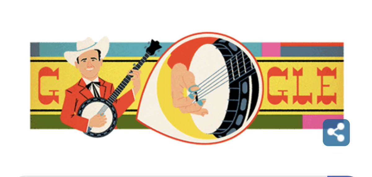This totally made my Friday. #GoogleDoodle #EarlScruggs #banjopickin #scruggsstyle<br>http://pic.twitter.com/bAEaPMULhM