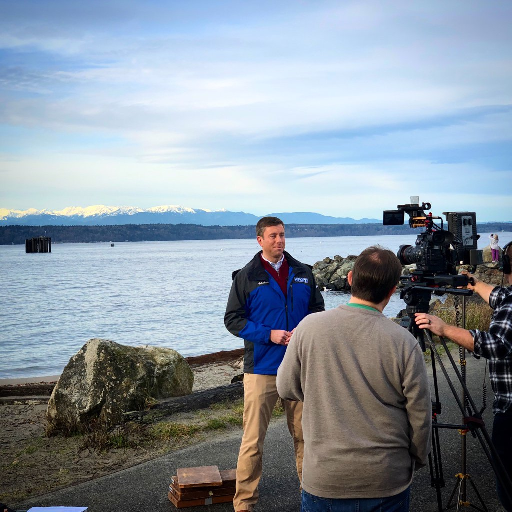 Beautiful day for a location shoot in #Edmonds.  . . . #olympics #pugetsound #wawx #washingtonstate