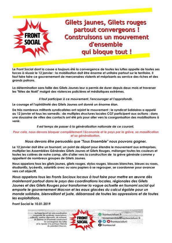 #GiletsJaunes  Gilets rouges Partout convergeons! #Acte9 #ActeIX <br>http://pic.twitter.com/qm4532WcF6