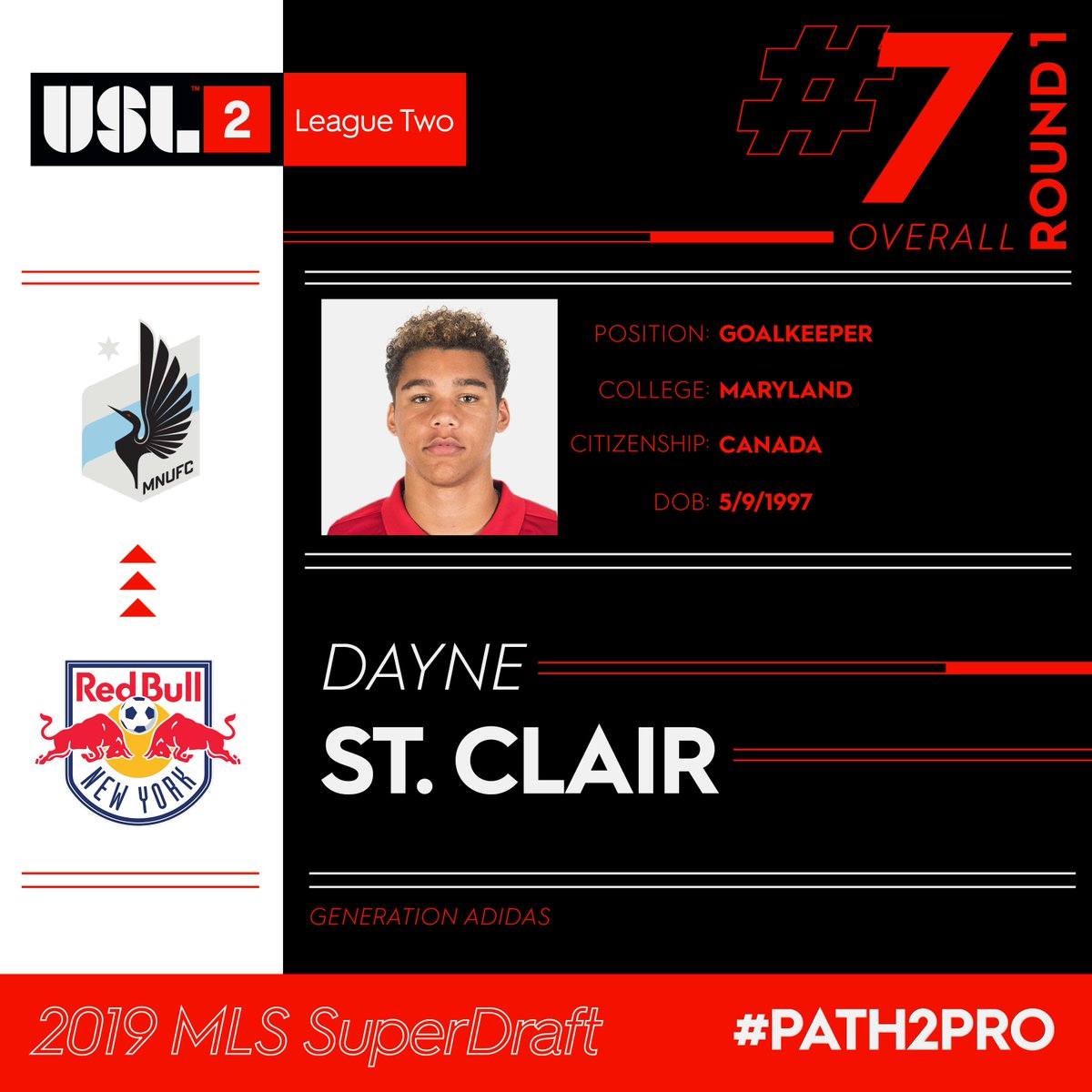 USL League Two's photo on Dayne St. Clair
