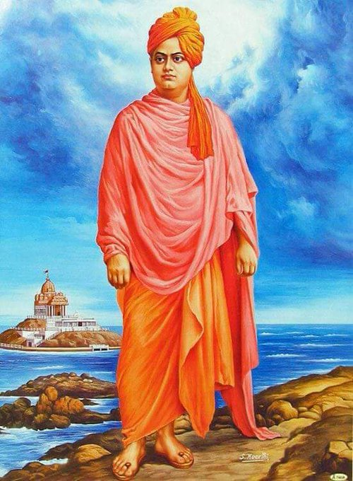 """""""You cannot believe in god until you believe in yourself."""" Tribute to one of the greatest Youth Icon,inspirational leader, saint, philosopher & a true nationalist Swami Vivekananda on his birth. #NationalYouthDay #SwamiVivekananda Photo"""