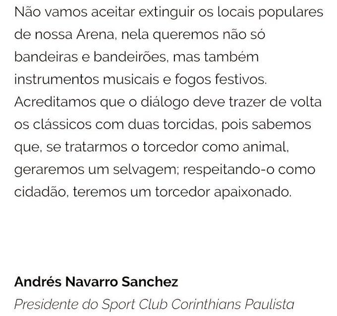 👏🏿👏🏿👏🏿 Parabéns ao @Corinthians que fez uma carta aberta para a bizarra @CONMEBOL ( esse lixo de entidade)que pretende ter mais uma decisão IMBECIL, ESTAPAFÚRDIA E ACÉFALA! O Corinthians é o time do povo e o povo é que vai fazer o time #2toquescomTobias #Corinthians Foto