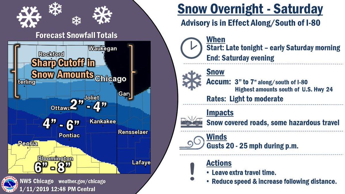 chicago snow forecast tomorrow