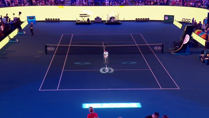 We are moments away from the Rod Laver Arena Spectacular - always a popular event at Kids Tennis Day ✨ #AusOpen #MyAusOpen Photo