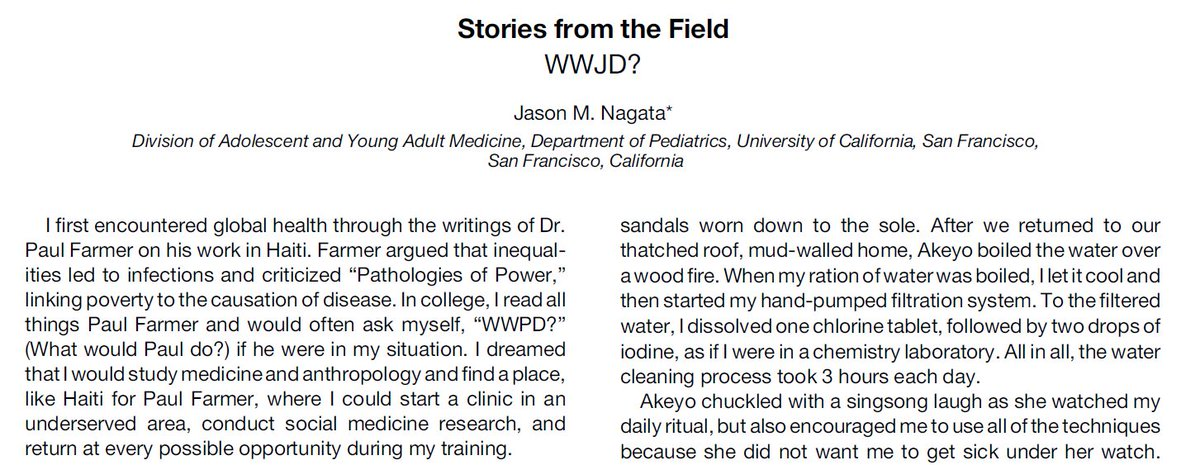 Good High School Essay Topics Check Out My Stories From The Field Essay In Ajtmh On Navigating  Globalhealth During Medical Training And Emulating Role Models  What  Would Jimyongkim  Narrative Essays Examples For High School also English Essay Examples Jason Nagata On Twitter Wwjd Check Out My Stories From The Field  Examples Of Argumentative Thesis Statements For Essays