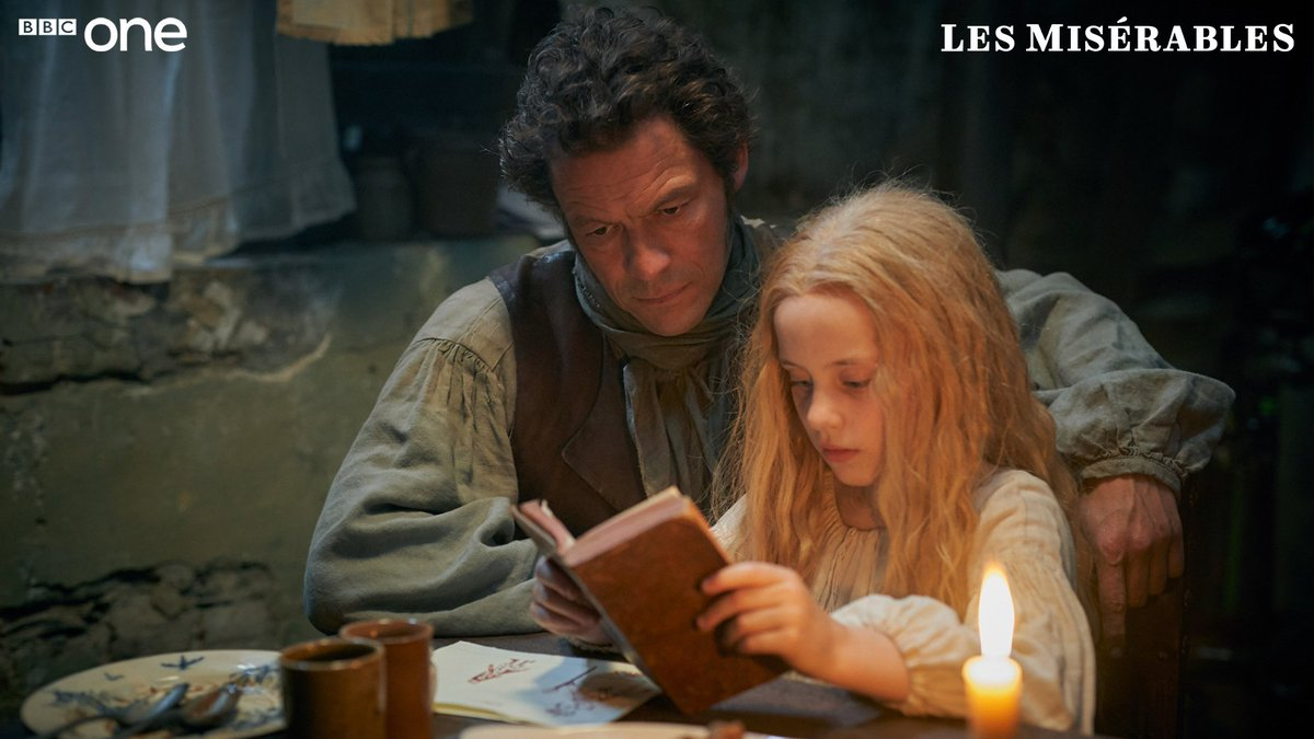 Image result for les miserables jean valjean and cosette bbc one