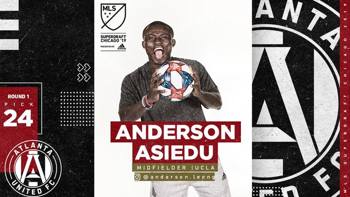 First round complete! #MLSCup champs @ATLUTD take @UCLAMSoccer midfielder Anderson Asiedu with the 24th pick. #SuperDraft Photo