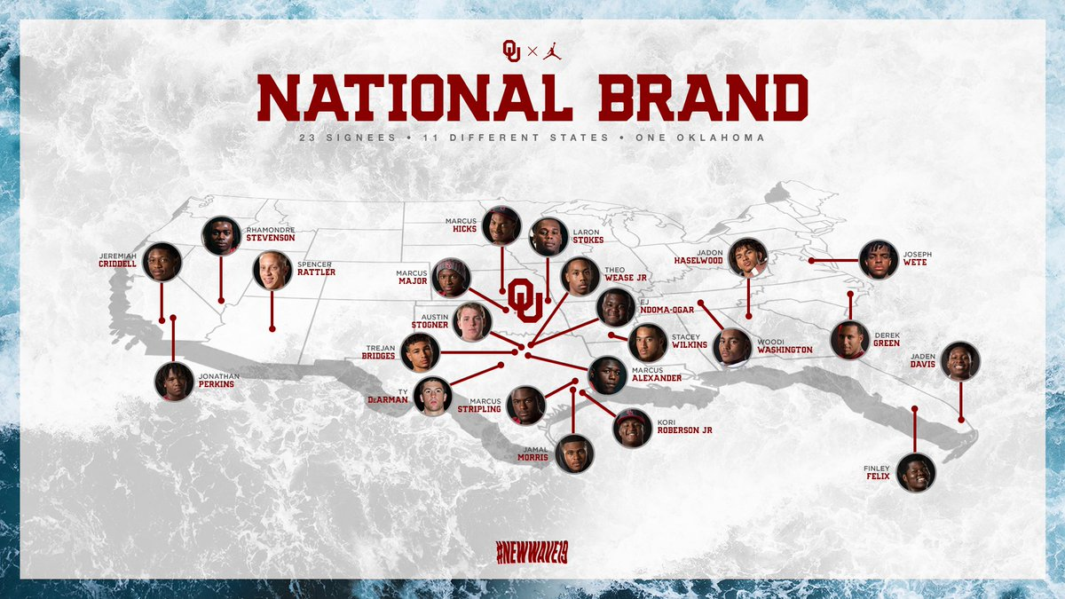 They come from all over to be #Sooners.  #NewWave19 #OUDNA     http:// NewWave19.com  &nbsp;  <br>http://pic.twitter.com/pOIetQqVwD