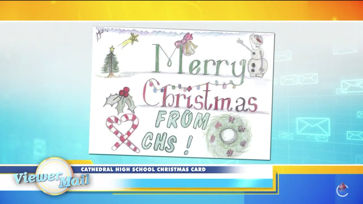 test Twitter Media - We're proud for Cathedral High School student Jada Haygood '23 to see her design on our CHS Christmas Card featured by @CatholicTV's Jay Fadden on today's episode of This is the Day! https://t.co/tUwkdL4lUh