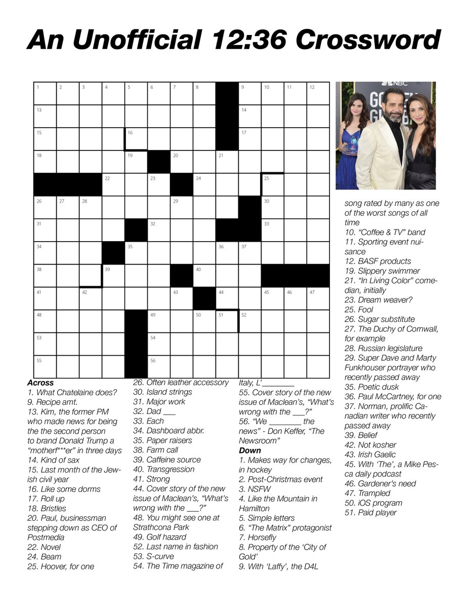 Christmas In Italy Crossword.12 36 On Twitter Two Crossword Clues Referencing Two Macleans