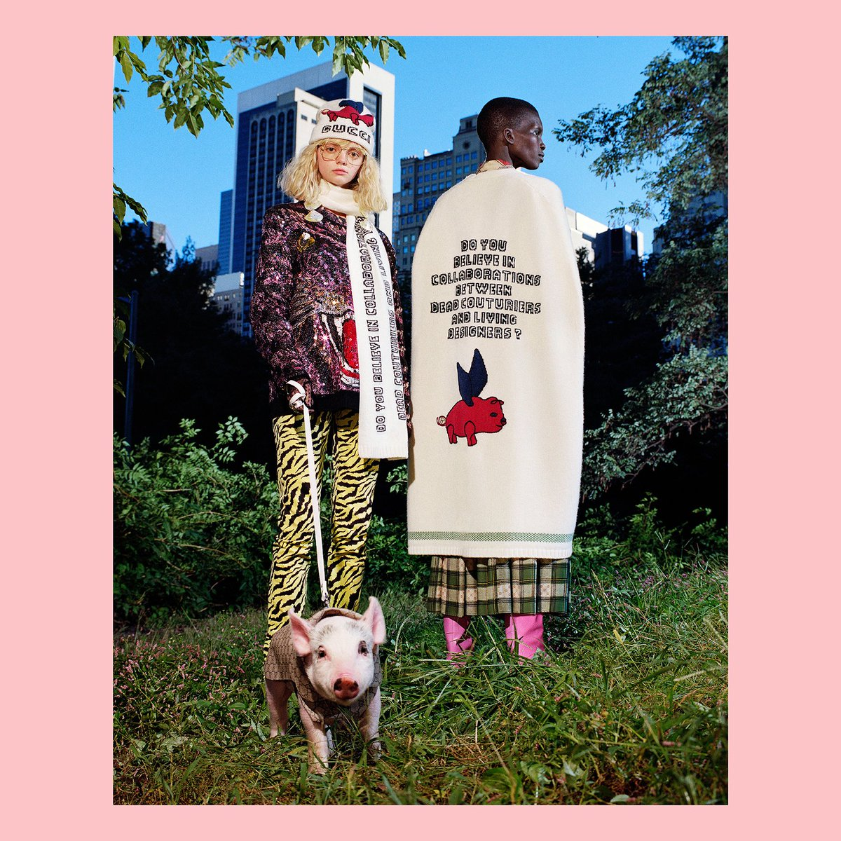 4ec10106f6f A special editorial shoot by  FrankLebon presents the  Gucci collection  designed by  AlessandroMichele that celebrates the year of the pig .