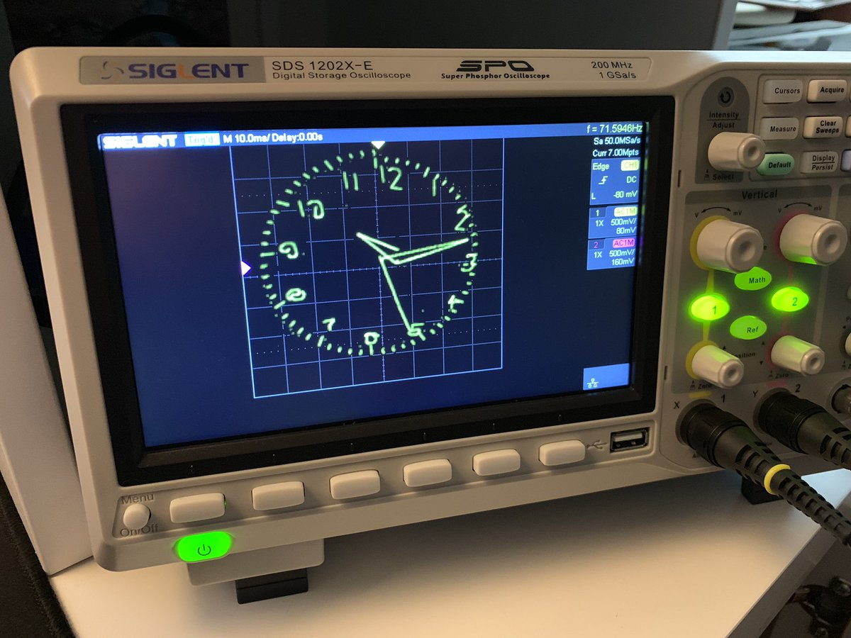 Mauro Pintus Ar Twitter Make Your Own Esp32 Oscilloscope Clock With This Simple Arduino Code Https T Co 52qim90zjc As Promised Here You Can Find All You Need To Convert Your Oscilloscope In To A