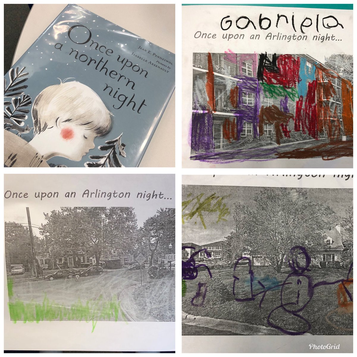 After hearing Once Upon a Northern Night, Barcroft Kindergarteners created winter night scenes overtop of photos of their own homes and street.  Connecting books to home. <a target='_blank' href='http://twitter.com/APSLibrarians'>@APSLibrarians</a> <a target='_blank' href='http://twitter.com/APSVirginia'>@APSVirginia</a> <a target='_blank' href='http://twitter.com/SitronArt'>@SitronArt</a> <a target='_blank' href='http://twitter.com/GabyRivasAPS'>@GabyRivasAPS</a> <a target='_blank' href='http://twitter.com/BarcroftEagles'>@BarcroftEagles</a> <a target='_blank' href='https://t.co/vPxq1y8G0u'>https://t.co/vPxq1y8G0u</a>