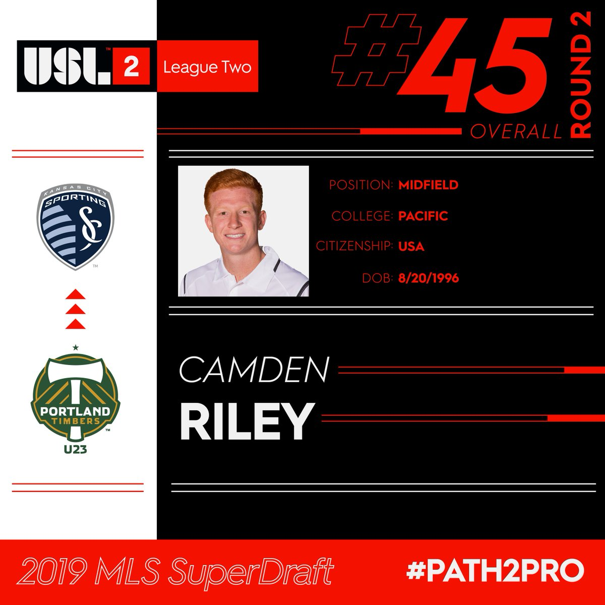 USL League Two's photo on Camden Riley