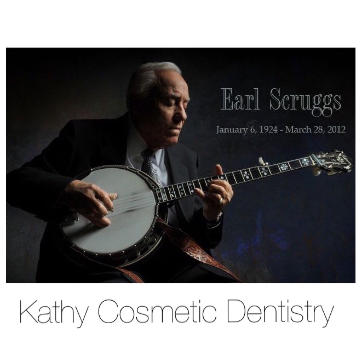 Earl Scruggs who thought out of the box and played banjo with three fingers .... #EarlScruggs #jakepatterson #dentist #veneers #smiledesign #implants #invisalign<br>http://pic.twitter.com/WWZ3hnWIpt