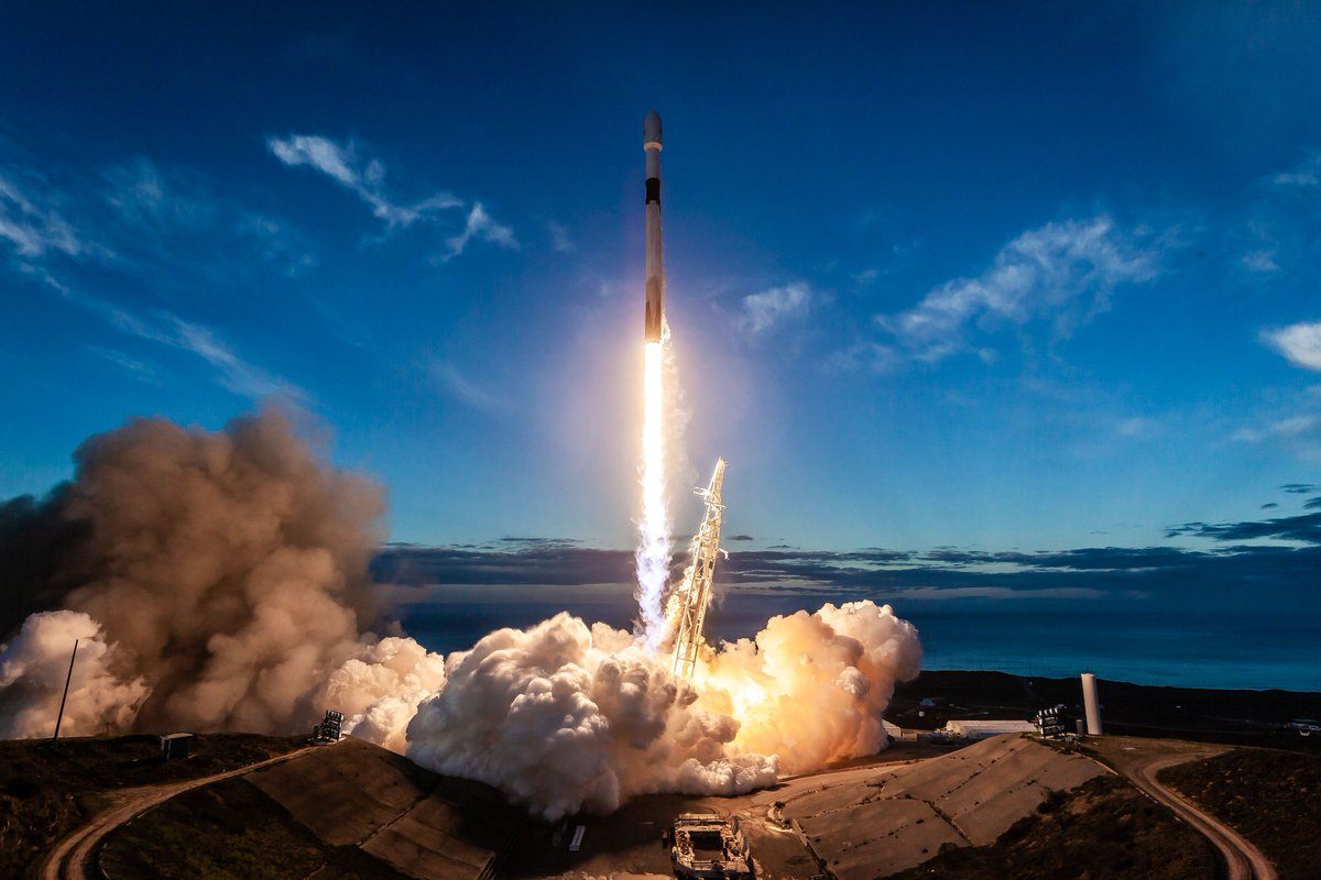 Falcon 9 launches 10 new @IridiumComm NEXT satellites to orbit; this was the eighth set of satellites in a series of 75 total satellites that SpaceX has launched for Iridium's next generation global satellite constellation, Iridium NEXT.