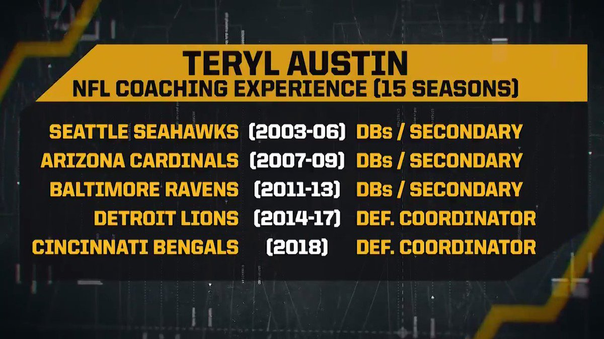 Pittsburgh Steelers's photo on Teryl Austin