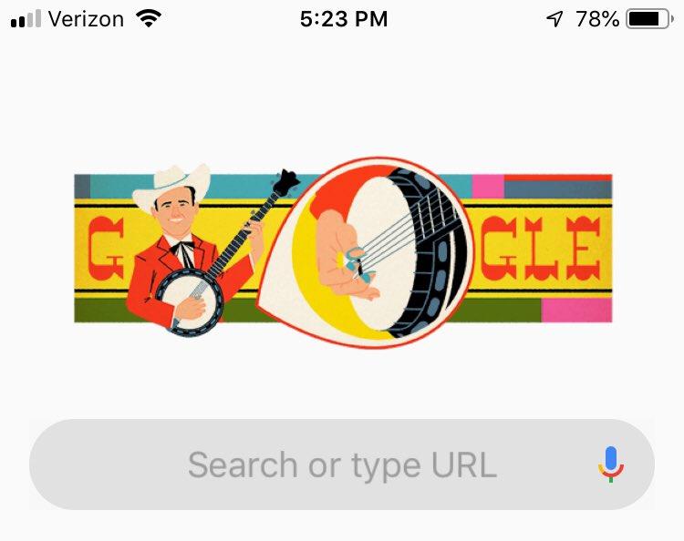 Thanks @Google #banjos rock#earlScruggs = #myhero <br>http://pic.twitter.com/EqEstS8Q0d &ndash; à Kerr Lake
