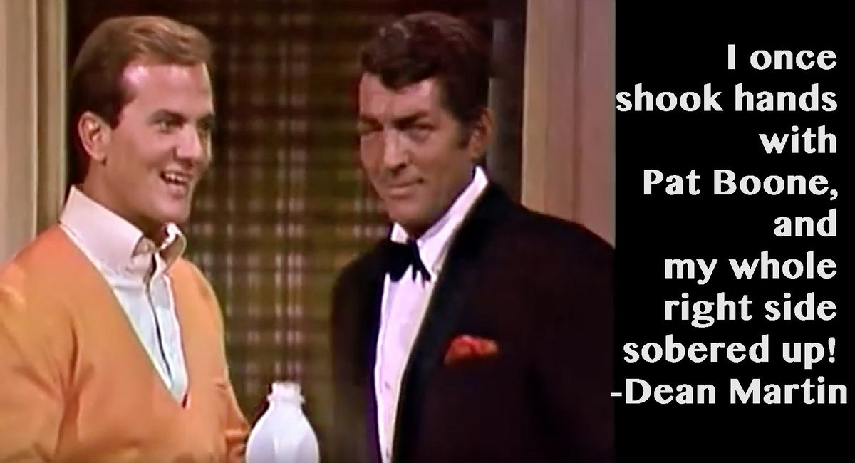 I once shook hands with @Pat_Boone and my whole right side sobered up.  -- Dean Martin  #NationalMilkDay <br>http://pic.twitter.com/UzSUOuWWK3