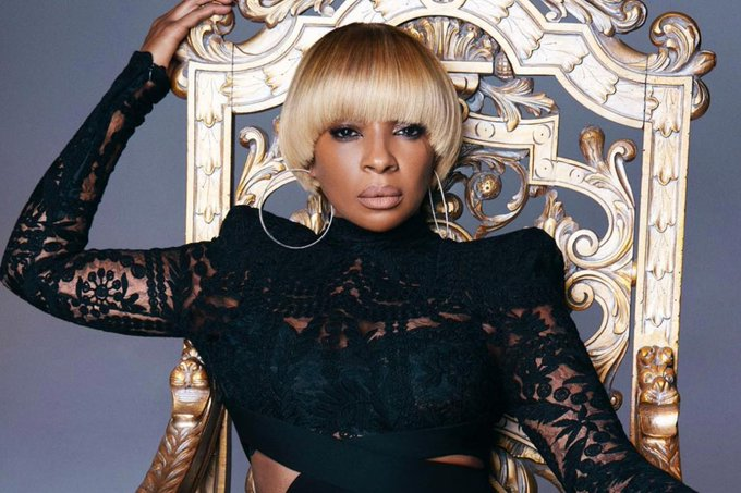"Happy birthday to the queen of R$B, Mary J Blige!! Thank you for giving us that ""Just Fine\"""