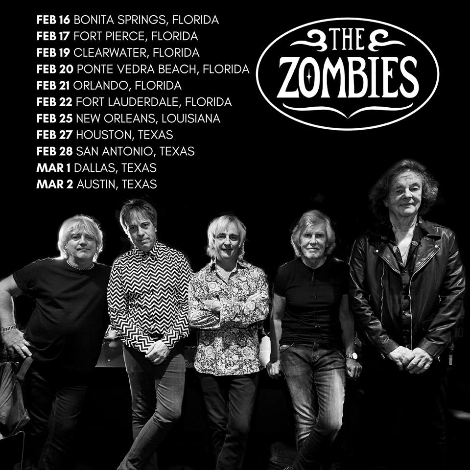 .@lizbrasher will be supporting us on our upcoming US tour (minus San Antonio)!  Bonita Springs, Houston, and Dallas are almost sold out.  Rod Argent & Colin Blunstone meet & greet available for Clearwater, Ponte Vedra Beach, and Orlando.  Tickets: http://thezombiesmusic.com/tour-dates
