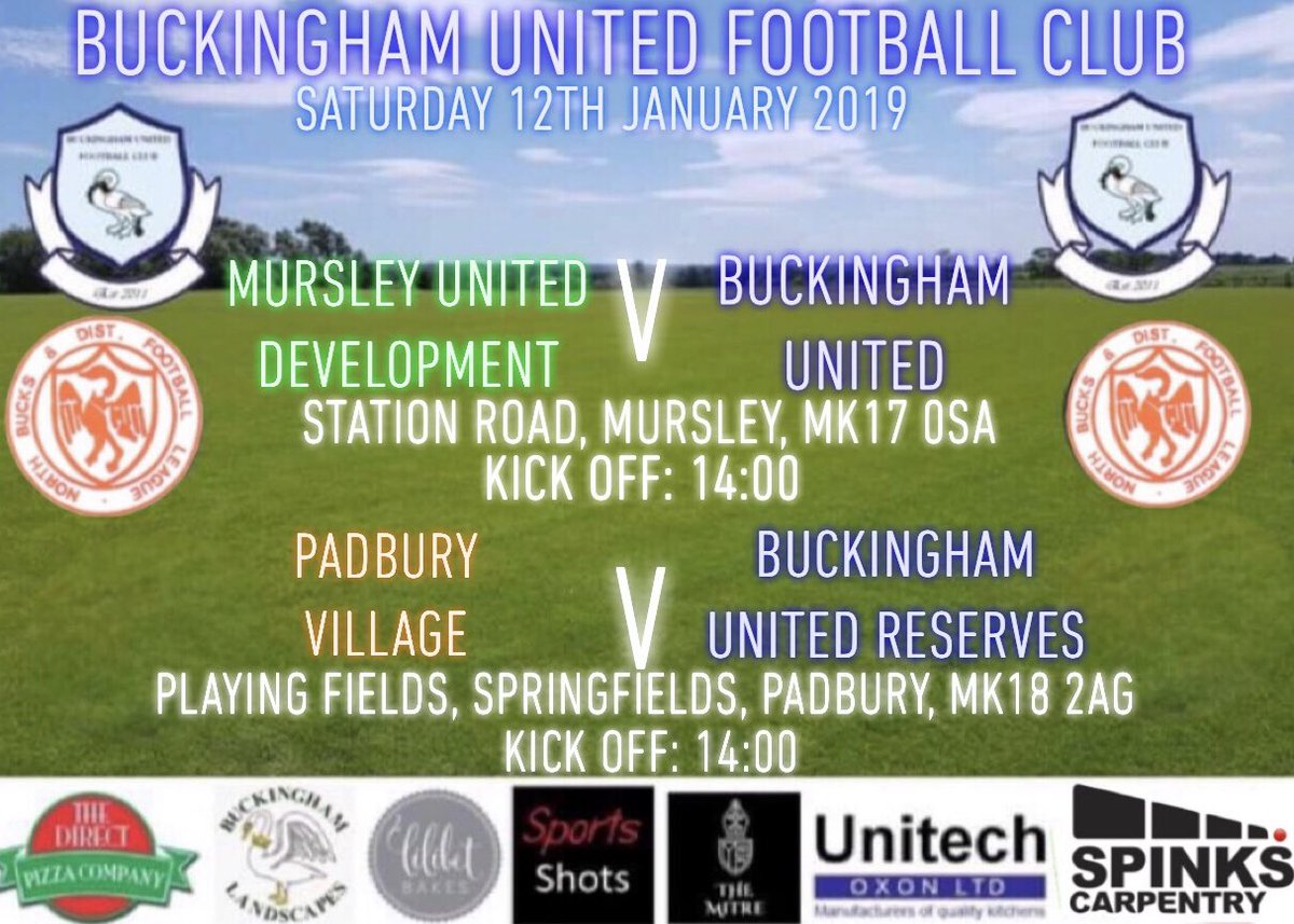 Buckingham United Fc On Twitter Tomorrows Fixtures First