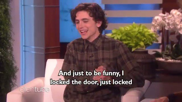 This childhood story that Timothée Chalamet told me was funny... unless you're his mother. @RealChalamet https://t.co/SqqoIpXUrF