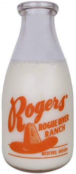 For #NationalMilkDay—from 1940 on, Ginger Rogers owned 1000 acres of farm land near Medford, OR called Rogue River Ranch that at one point was a working dairy. This bottle is what the milk came in. <br>http://pic.twitter.com/X2iPyb8eak