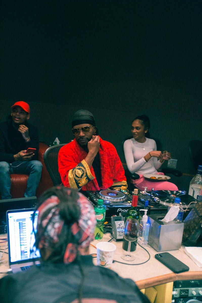 Cozy in the studio