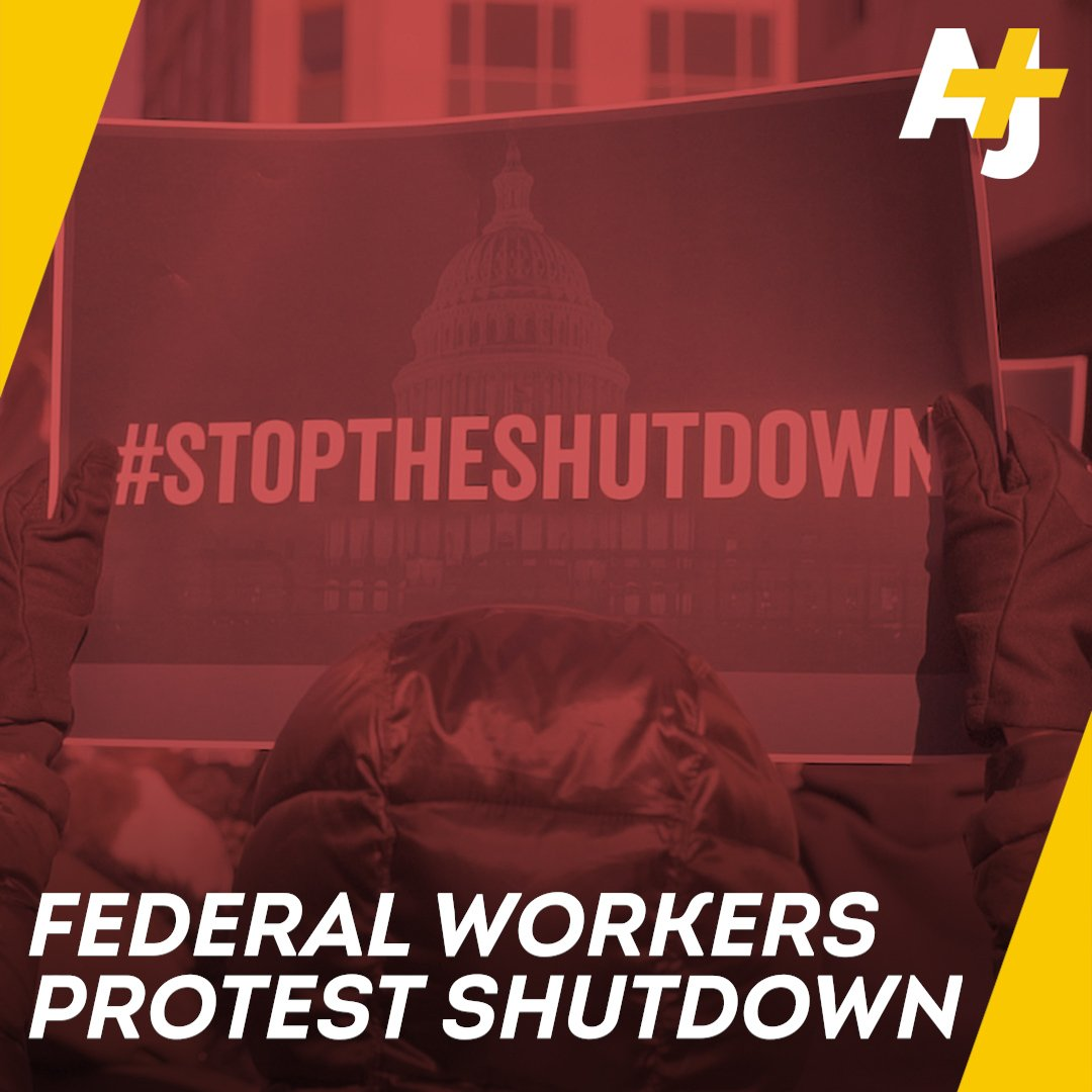 Federal workers braved the cold in Washington, DC to tell Trump to reopen the government.