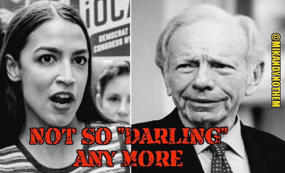 Alexandria Ocasio-Cortez @AOC is an idiot.  After insulting a classy Joe Lieberman, Dems are mounting anoperation to bring her into line with warnings that she will be on her own and ineffective if she keeps &quot;sniping&quot; inside the party tent. #MAGA #tcot #FoxNews  #FlashbackFriday <br>http://pic.twitter.com/fmccqTJuVr