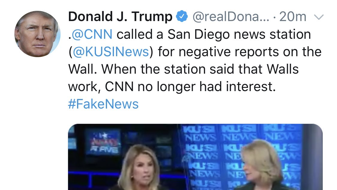 TV station that accused CNN of refusing to air positive border wall story does not back down