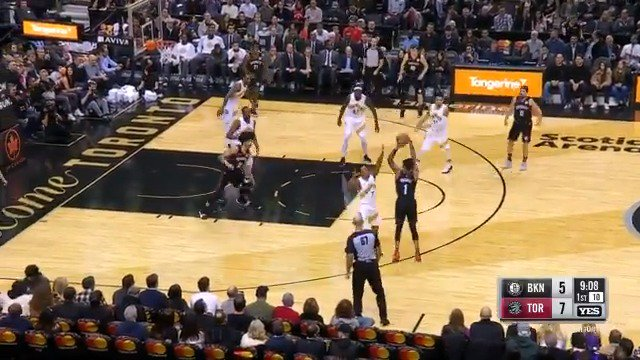 D'Angelo Russell posts 12 PTS, 6 REB, 5 AST for the @BrooklynNets in the opening frame! #WeGoHard https://t.co/j3F7oqORj5
