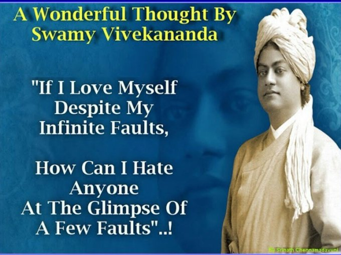 Remembering Swamiji on his birthday just allows us to tweet on this day, BUT REMEMBERING DAILY ALLOWS US TO DO MIRACLES. The most precious resource for mankind ever. #SwamiVivekananda Photo