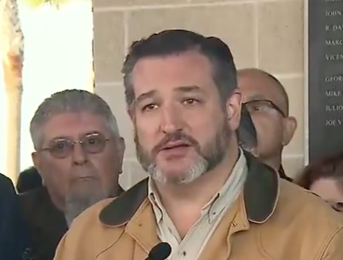 Ted Cruz holding a press conference explaining the one armed man murdered his wife