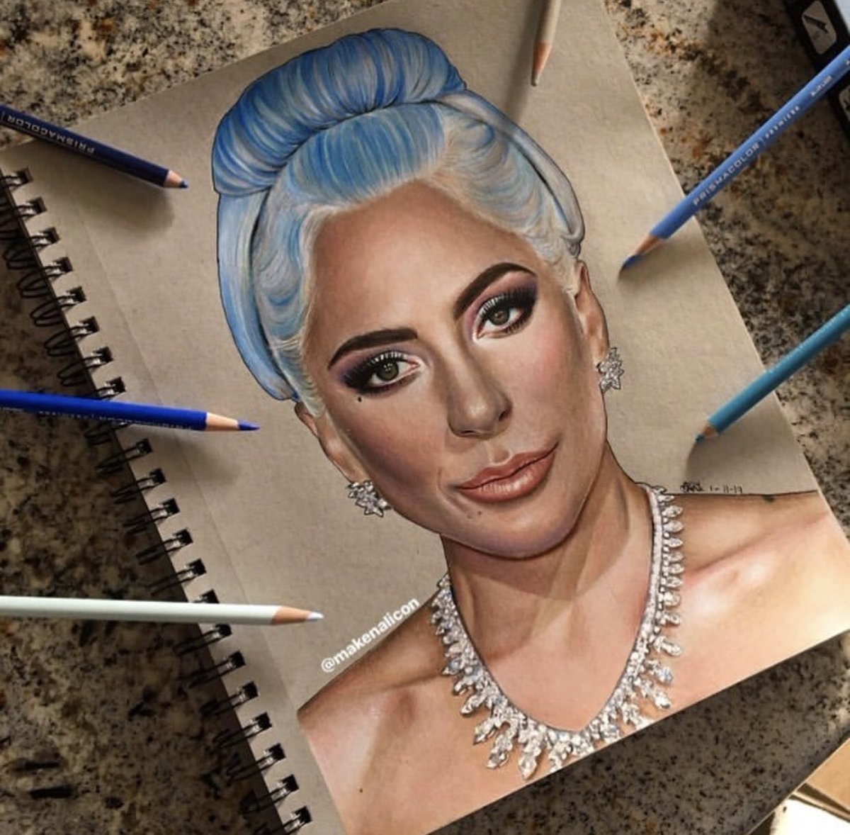 CHECK IT OUT: Lady Gaga Fan Artwork by @makenalicon! @ladygaga #GoldenGlobes  #AStarIsBorn<br>http://pic.twitter.com/2q7aH7pWyv