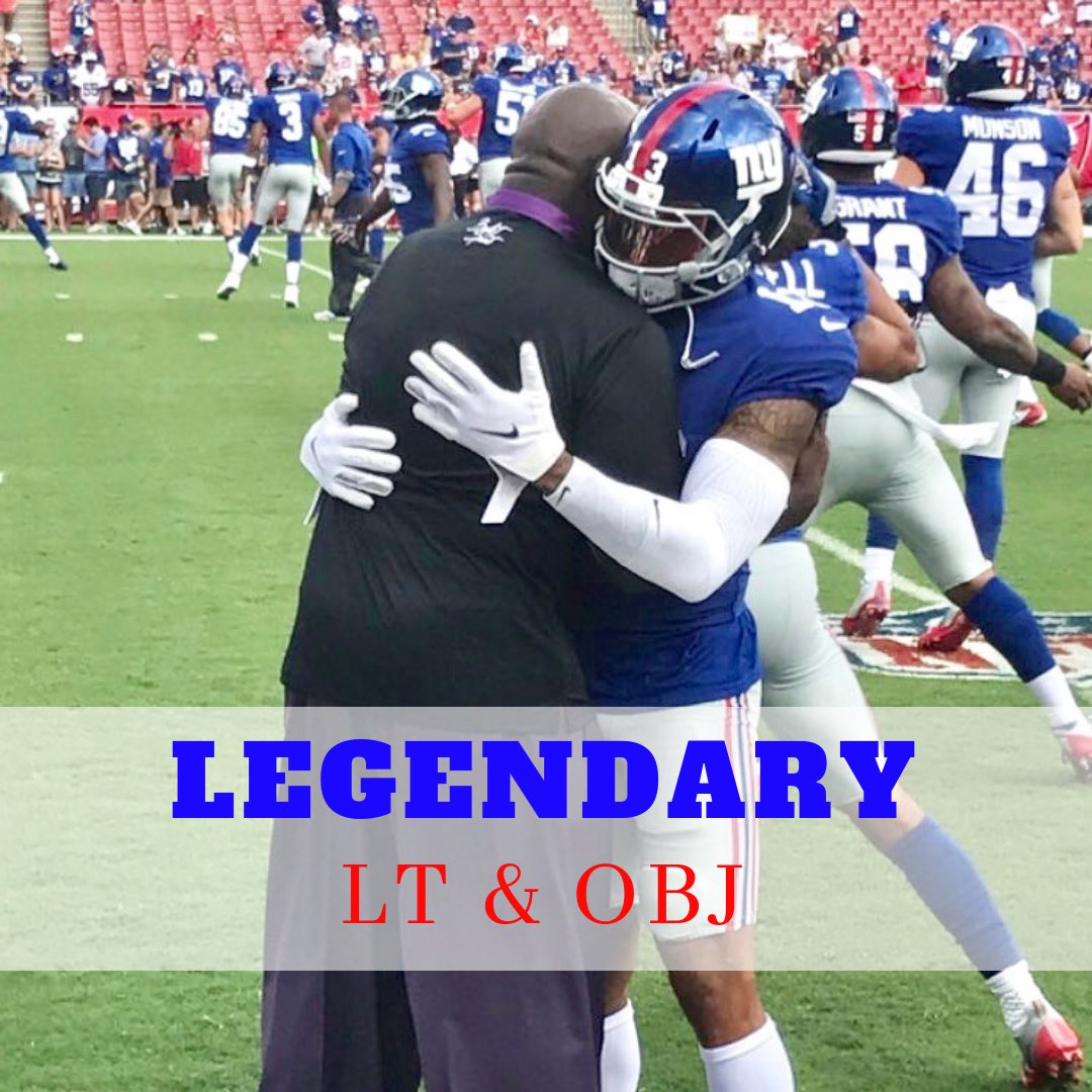 Giant Greatness!!!  Caption This: ________________ @obj  #lawrencetaylor #nygiants #lawrencetaylor56 #odellbeckhamjr #odellbeckham<br>http://pic.twitter.com/OpqvO6a06F