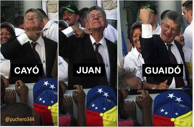 #GuaidoMuchachoPajuo Un opositor que nunca quiso a Voluntad Popular está feliz. EL VIEJO ZORRO SE SALIÓ CON LA SUYA. Descifrado el lenguaje de señas de Ramos Allup. Photo
