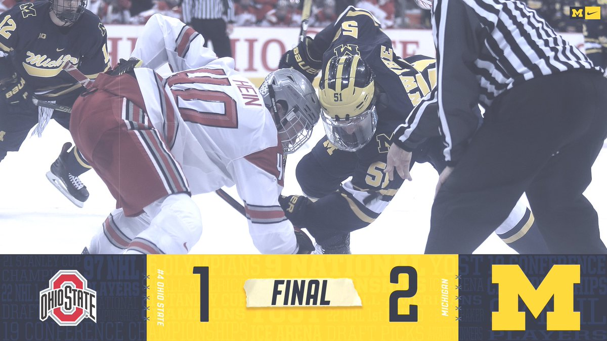 RT @umichhockey: Michigan takes down #4 Ohio State, 2-1!   #GoBlue https://t.co/SRax17leOW