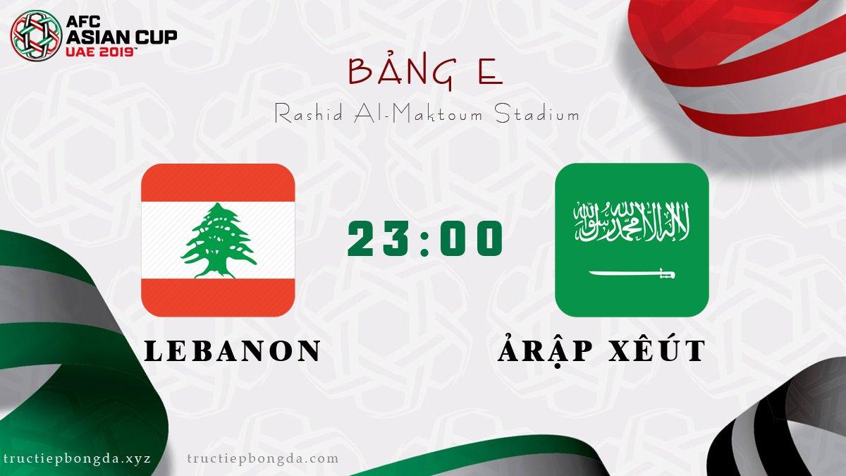 Lebanon vs Ảrập Xêút