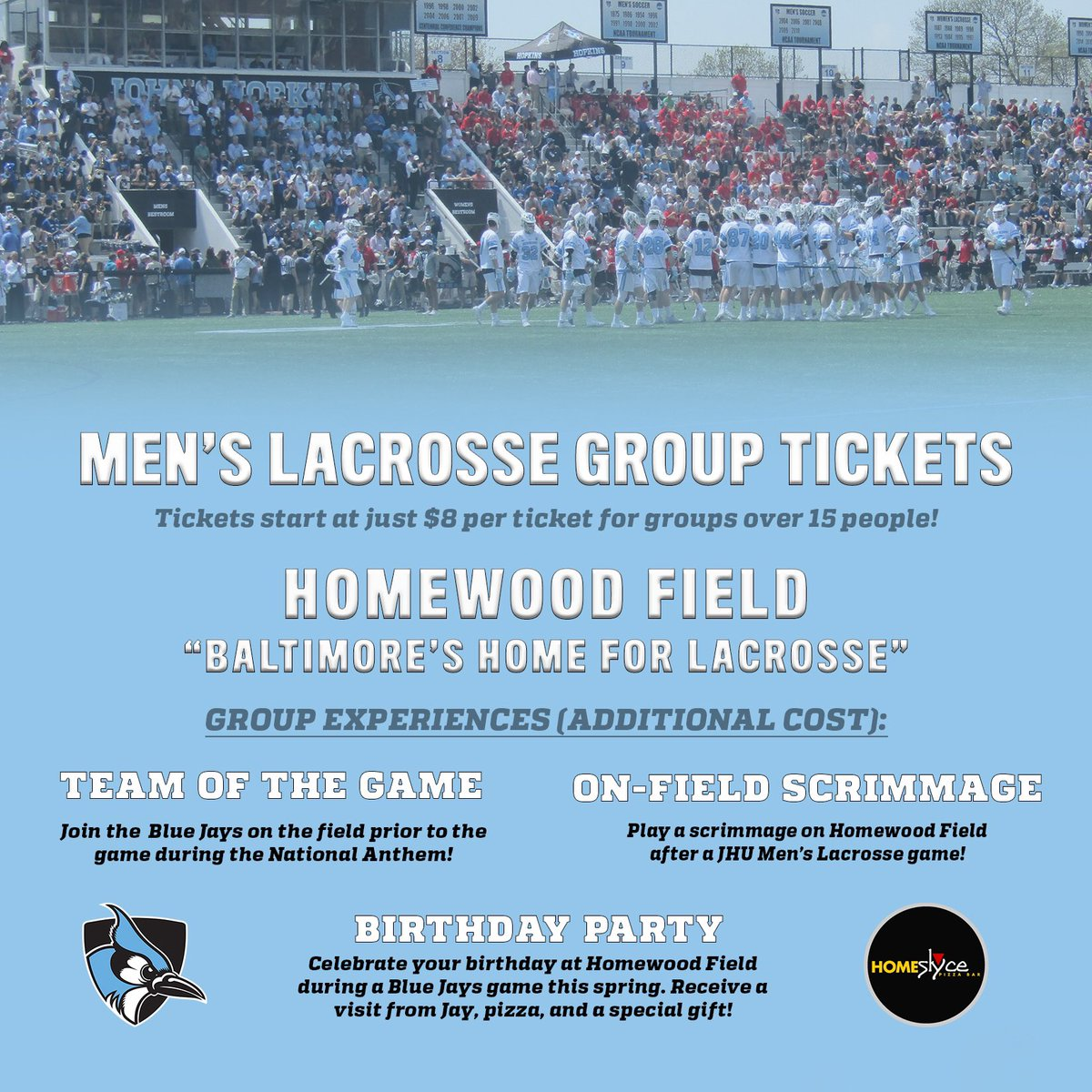 93e4ac56aebb7 Coming to historic Homewood field this spring   Bring all your friends and   PackTheNest! Group ticket experiences available for the 2019 season ...