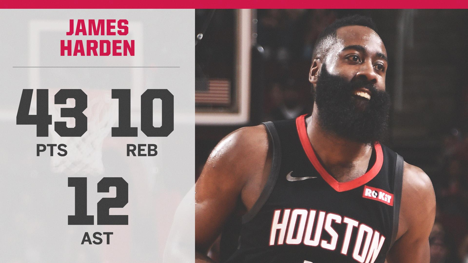 And James Harden didn't even play the 4th quarter �� https://t.co/oum4pqESOS