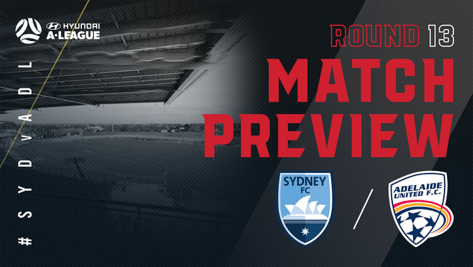 Big matches coming thick and fast! Watch live on Fox Sports 505 or the My Football Live App at 5:30pm ACDT on Sunday. #AUFC #SYDvADL 📰 Preview: Photo