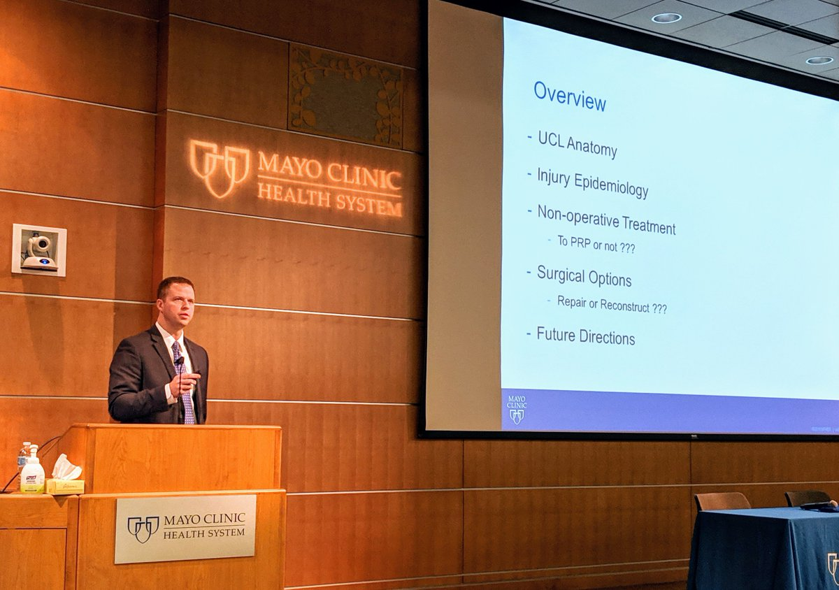 @ChrisCampMD giving an outstanding update on #tommyjohn surgery at the @MayoClinicHS Eau Claire Sports Symposium!