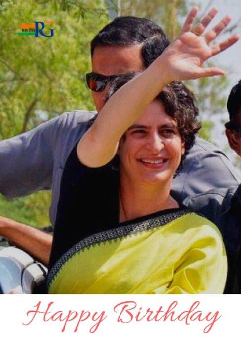 Many many happy returns of the day, happy birthday  Congratulations to you Priyanka Gandhi JI